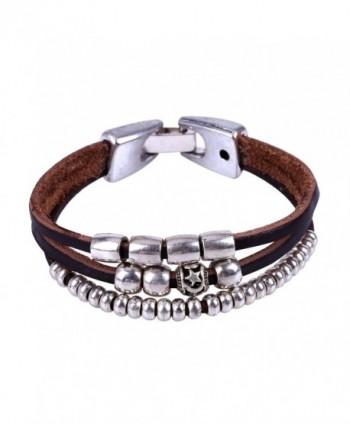 MAIMANI Zinc Alloy Genuine Leather Freshwater Cultured Pearl Bracelet Women Jewelry Nickel Free Lead Free - CW12LB42UX5