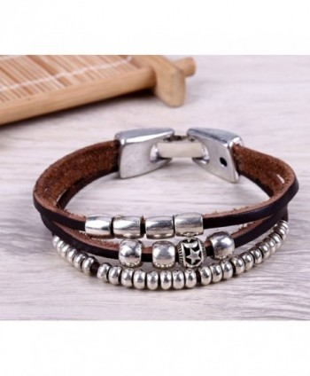 MAIMANI Genuine Leather Bracelet Durable in Women's Strand Bracelets
