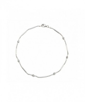 Finejewelers 10 Inches Ankle Bracelet Sterling Silver - CW11962G1CL