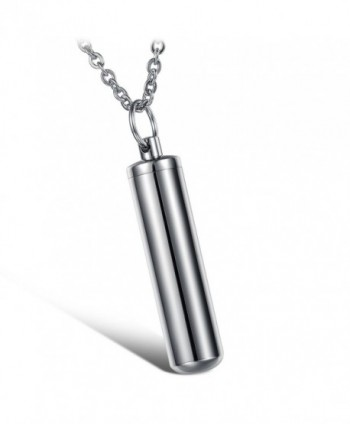 Brand New Titanium Stainless Steel Energy Cylinder/reservoir Creative Stylish Pendant Necklace in a Gift Box - C011DRL7UIB