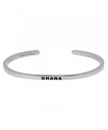Mantra Phrase: OHANA - 316L Surgical Steel Cuff Band - CF12NSI8WPN