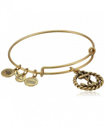 Alex and Ani Womens Nautical Charm Bangle - Rafaelian Gold Finish - C7118VNEBTV