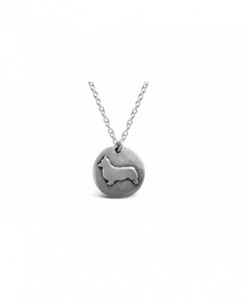 Rosa Vila Round Plate Corgi Necklace - Corgi Dog Inspired Puppy Necklace For Women - C3189K2USLZ