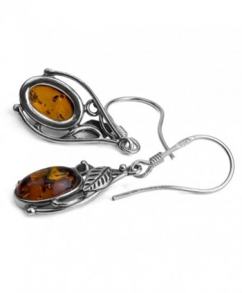 Sterling Silver Amber Classic Earrings