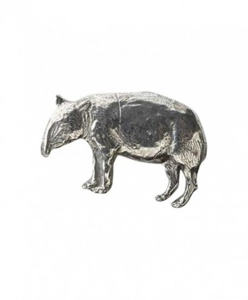 Creative Pewter Designs- Pewter Tapir Handcrafted Lapel Pin Brooch- M154 - CY122XIUI0F