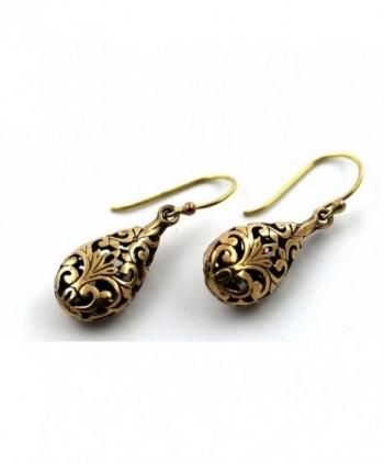 Filigree Teardrop Earrings Thailand Jewelry