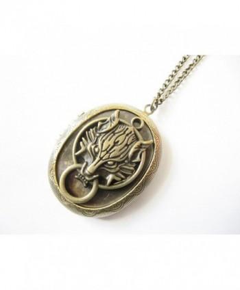Bronze Picture Locket Pendant Necklace