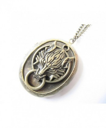 Bronze Picture Locket Pendant Necklace in Women's Lockets