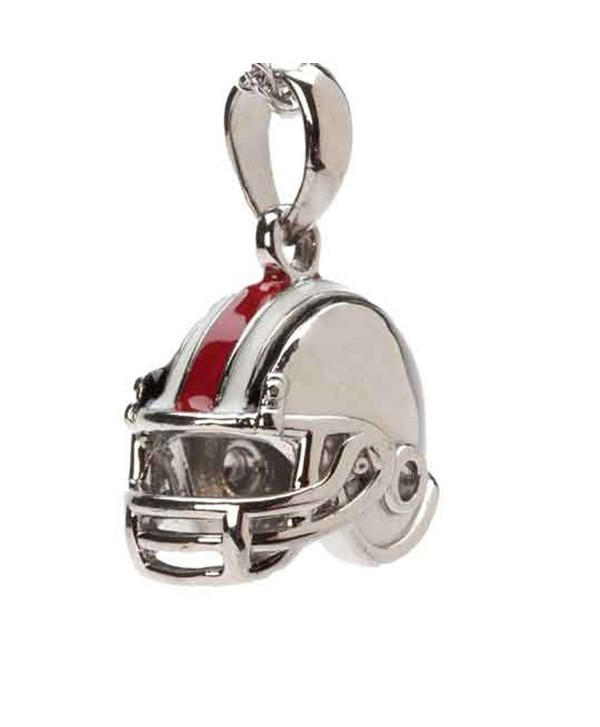 OSU Buckeyes Dangle Football Helmet Bead Charm - Fits Pandora & Others - CY11S4K9E5R