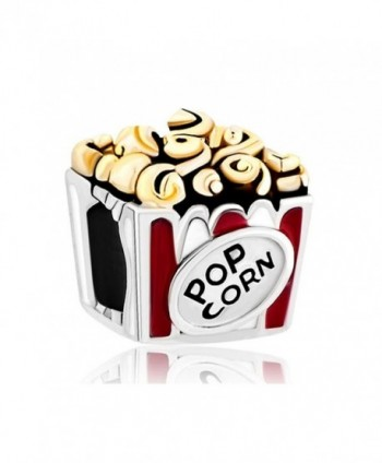 LovelyJewelry Movie Popcorn European Bead Hot Food Charms For Bracelet - C211TC1GDBZ