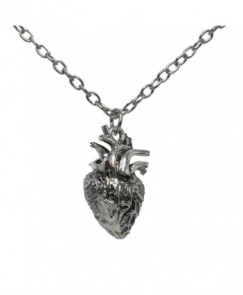 Anatomical Full 3D Human Heart Necklace Anatomic Heart Pendant Nickel free Alloy - CK185Y960GW