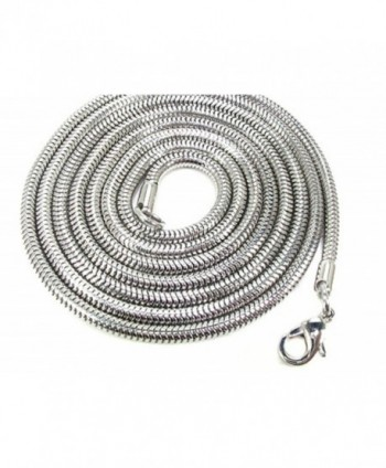 Women 1.5 MM Snake Chain Necklace - Stainless Steel - CE11MTZB613