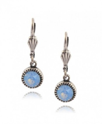 Anne Koplik Simple Drop Earrings- Silver Plated - Light Blue - CO187WZ66X8