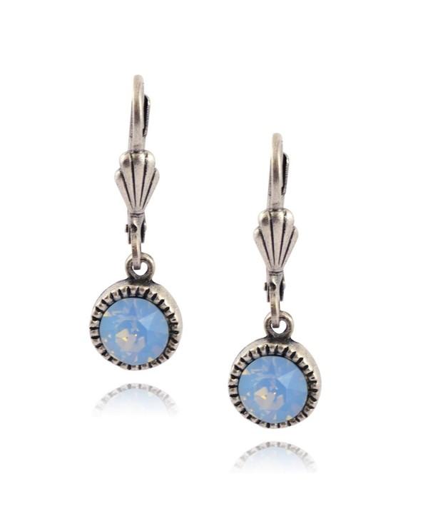 Anne Koplik Simple Drop Earrings- Silver Plated - Light Blue - CO187WZ66X8