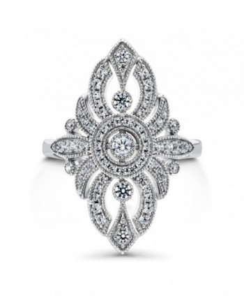 BERRICLE Sterling Zirconia Cocktail Statement