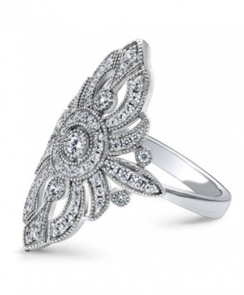 BERRICLE Sterling Zirconia Cocktail Statement in Women's Statement Rings