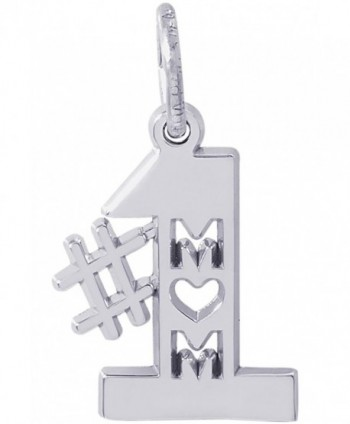 Rembrandt Charms Sterling Silver 1 Mom Charm (12 x 13 mm) - CI12O1D1WER