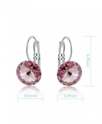 Crystal Leverback Earrings Swarovski Crystals