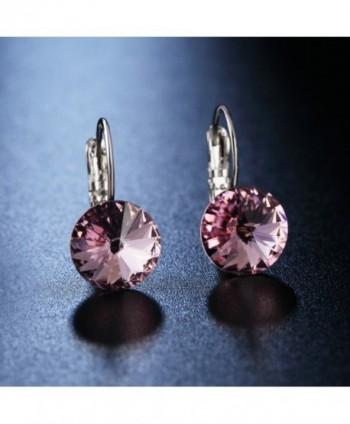 Crystal Leverback Earrings Swarovski Crystals in Women's Drop & Dangle Earrings