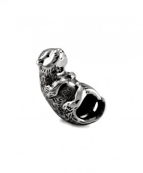 Ohm Beads Sterling Silver Otter Bead Charm - CW11C6PUTRX