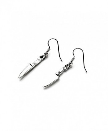 Knife French Loop Earrings - CT11LIBK3I1