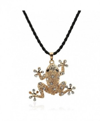 Winter.Z Frog jewelry accessories hollow retro fashion sweater chain necklace - C5120X0C0AP