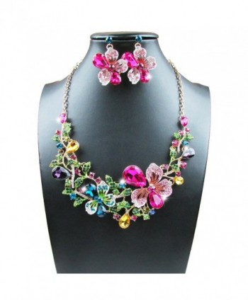 Yuhuan Costume Statement Necklace Earrings