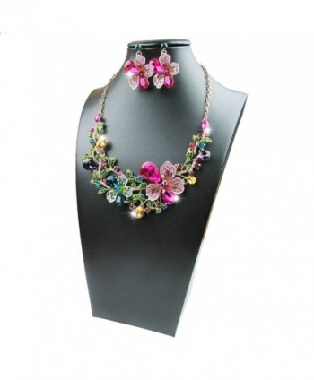 Yuhuan Costume Statement Necklace Earrings in Women's Jewelry Sets