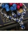 BriLove Teardrop Statement Necklace Silver Tone in Women's Jewelry Sets