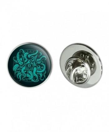 "Cthulhu Elder Sign Pentagram Metal 0.75"" Lapel Hat Pin Tie Tack Pinback - CS184W5HKD8"