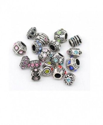 Ten Assorted Rhinestone Bead Charm Spacers - CY1102ZCVI9