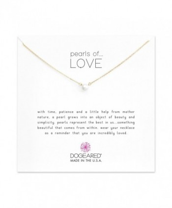 "Dogeared Pearls of Love Freshwater Cultured Gold Filled 16"" with 2"" Extender Boxed Necklace - Gold - CE11DFG0XYL"