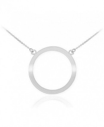 "925 Sterling Silver Circle of Life Pendant Karma Necklace- 18"" - CV11JB7V6WL"