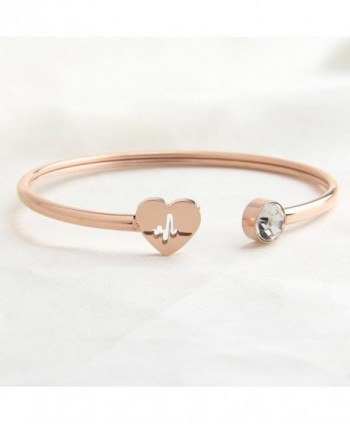 Dainty Bracelet Christmas heartbeat bracelet in Women's Cuff Bracelets
