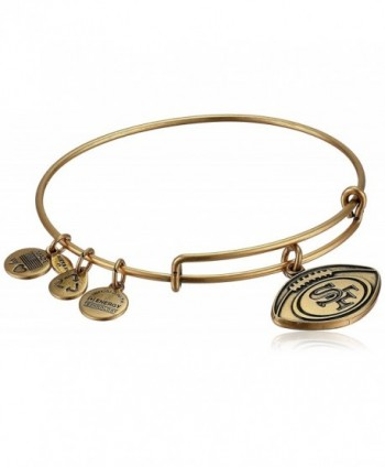 Alex and Ani Womens San Francisco 49ers Football Charm Bangle - Rafaelian Gold Finish - C011GMUGOCH
