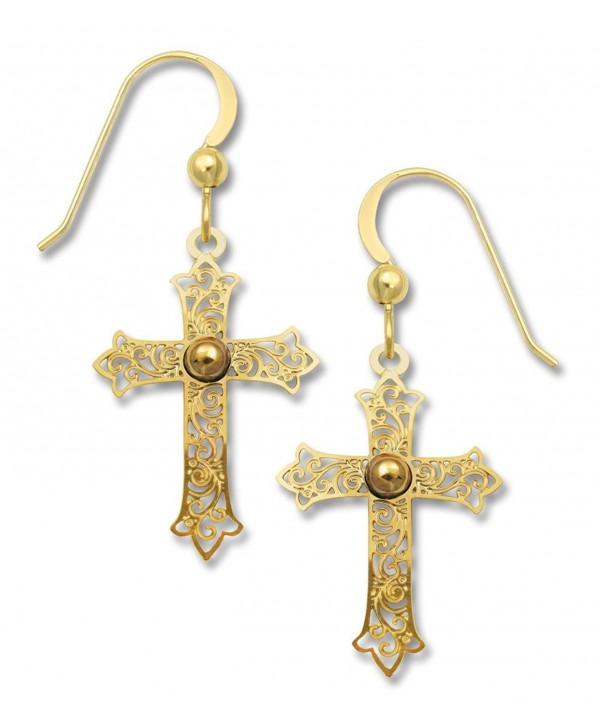 d62882387 Sienna Sky Goldplated Filigree Cross Earrings 1803 - CJ11JSGWIP9