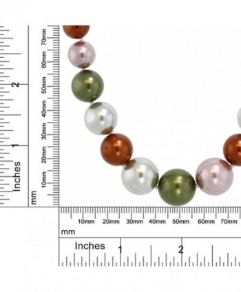 Stunning Multi Color Round Necklace in Women's Pearl Strand Necklaces