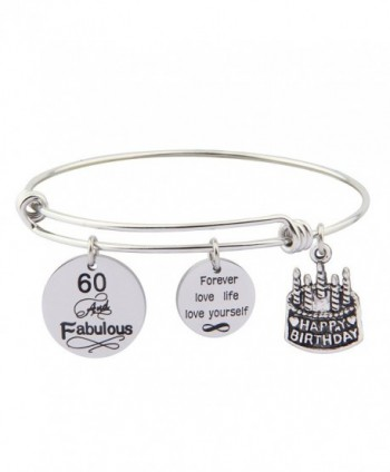 Gzrlyf 30th Birthday Gift Happy Birthday Charm Bracelet 40th 50th 60th Birthday Jewelry Family gift - CG187D953M7