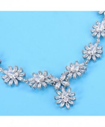 EleQueen Silver tone Zirconia Teardrop Snowflake