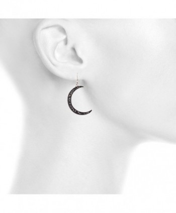 Lux Accessories Celestial Crescent Earrings