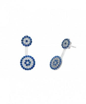 Women Sterling Silver Cubic Zirconia Hook Design Earrings - CD12N1JG34C
