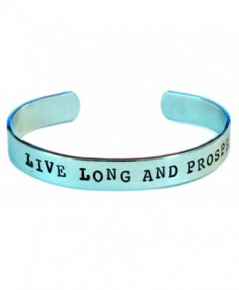Star Trek Bracelet - Live Long and Prosper - Hand Stamped Cuff Bracelet in Aluminum - C111KY2KYRZ