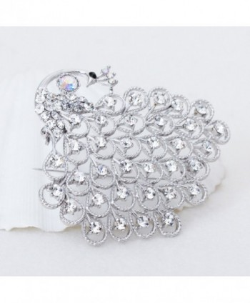 Gorgeous Bridesmaid Jewelry Crystal Silver tone in Women's Brooches & Pins