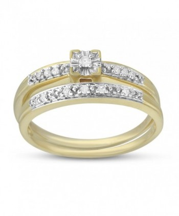 1/10 CTTW Bridal or Promise Ring in Sterling Silver - yellow-gold-plated-silver - CI17YDUSAKG