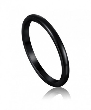 2mm 4mm 6mm Black Ceramic Rings for Men Women Comfort Fit Engagement Wedding Band - Metal-type-2mm - CY127FUJ9T7