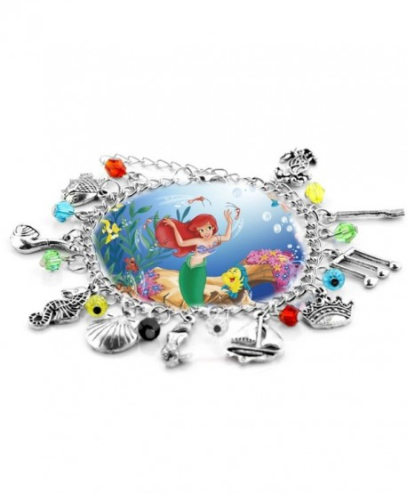 The Little Mermaid Movie Inspired Collection 10 Charms Lobster Clasp Bracelet in Gift Box by Superheroes Brand - CK12NZEQ90G