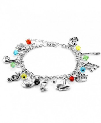 Mermaid Inspired Collection Bracelet Superheroes in Women's Charms & Charm Bracelets