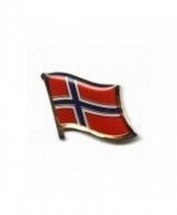 Norway Country Flag Small Metal Lapel Pin Badge ... 3/4 X 3/4 Inches ... New - CL1182G0885