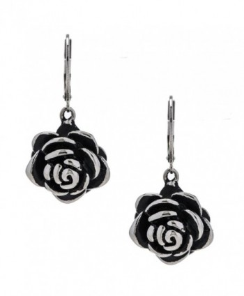 Designer Stainless Steel Rose Earrings for Women and Girls - CF12O39W2QD