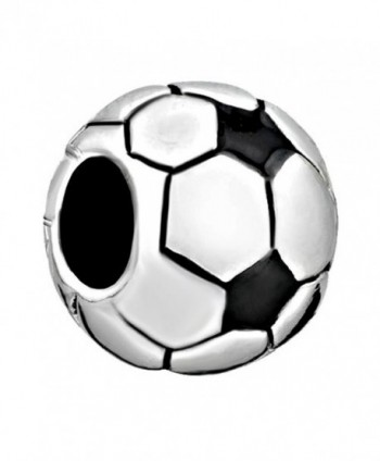CharmsStory Soccer Ball Charms Classic World Cup Soccer Beads Charm For Bracelets - CW11R9KQM7V
